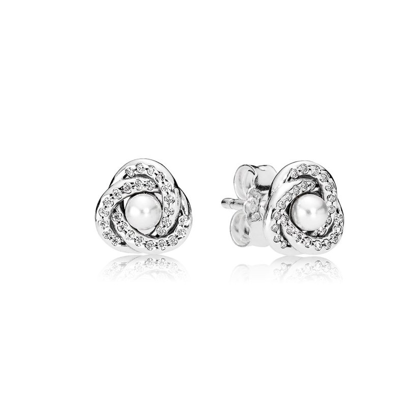 6838465b7 Michael Eller Diamonds: PANDORA Luminous Love Knots Stud Earrings ...