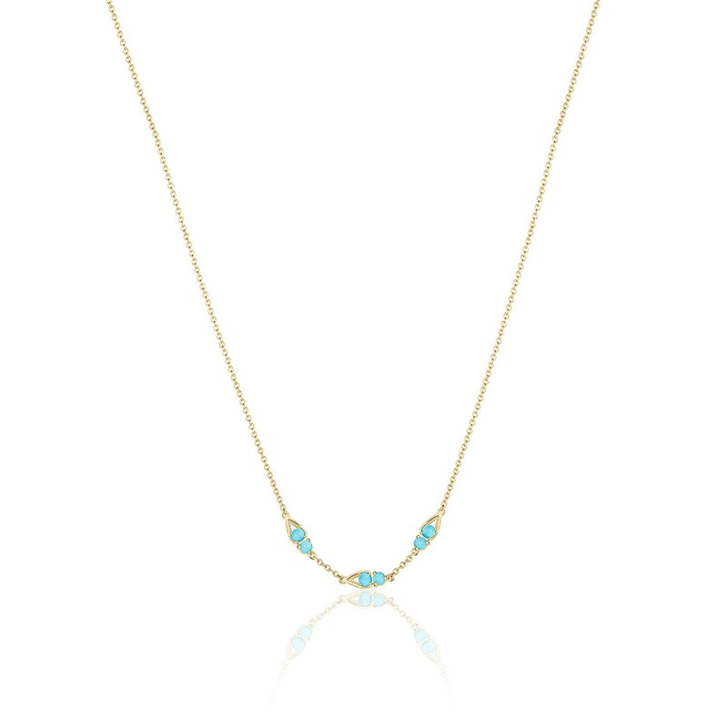 Tacori Fashion Petite Open Crescent Gemstone Necklace with Turquoise