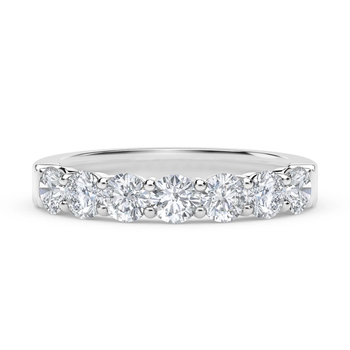 7 Stone Ladies Diamond Wedding Band
