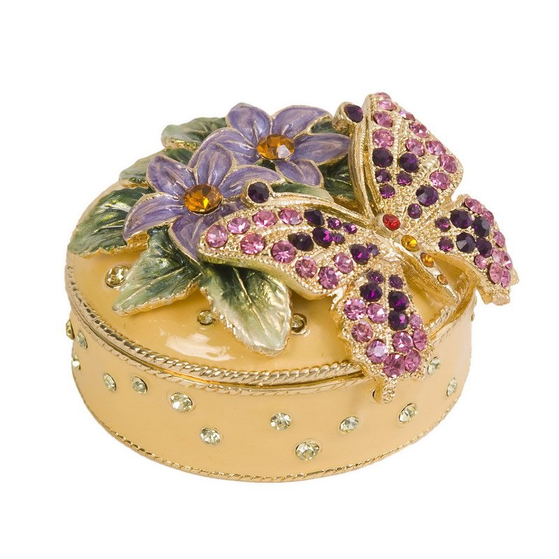 Luxury Giftware by Jere Flowered Butterfly Box