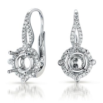 Hallo Earring Setting For .50ct tw