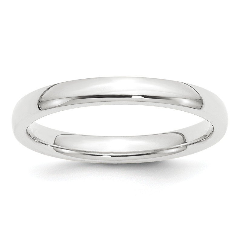 Quality Gold Platinum 3mm Comfort-Fit Wedding Band