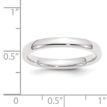 Platinum 3mm Comfort-Fit Wedding Band