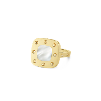 18Kt Gold Small Ring With Mother Of Pearl