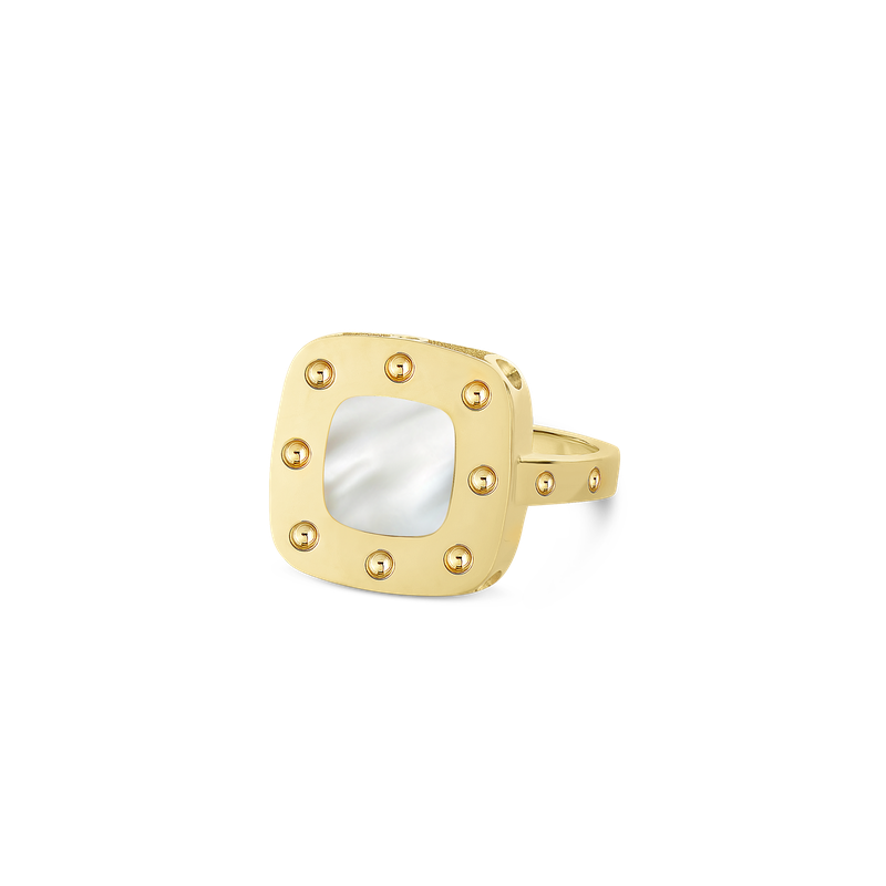 Roberto Coin 18KT GOLD SMALL RING WITH MOTHER OF PEARL