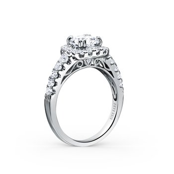Filigree Halo Diamond Engagement Ring