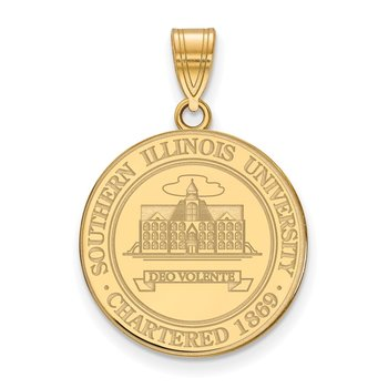 Gold-Plated Sterling Silver Southern Illinois University NCAA Pendant