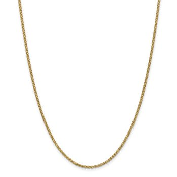 14k 2mm Spiga Chain