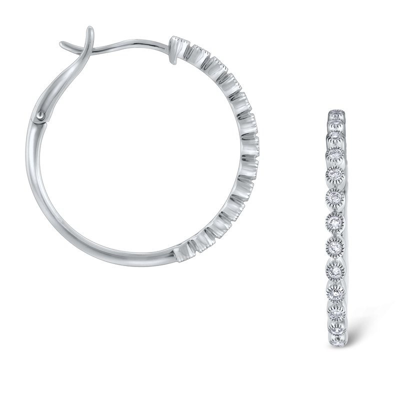KC Designs Diamond Hoop Earrings Set in 14 Kt. Gold