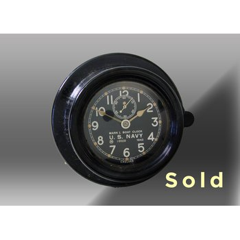 "3.75"" Marine Mechanical Navy Boat Clock, 429112"