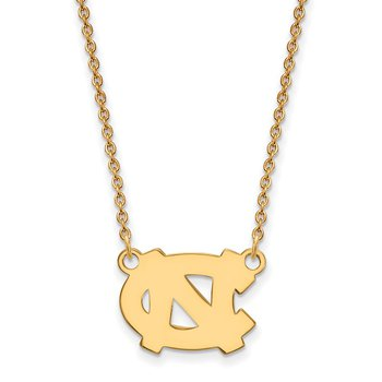 Gold University of North Carolina NCAA Necklace
