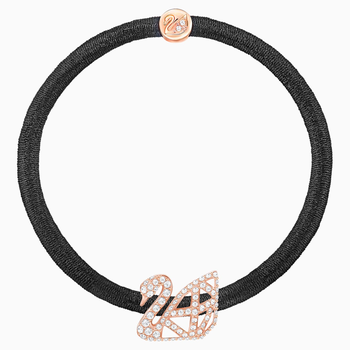 Facet Swan Pony Elastic, Rose gold plating