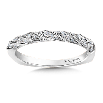Stackable Wedding Band in 14K White Gold (.15 ct. tw.)