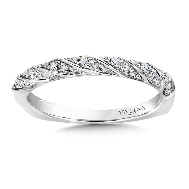 Valina Stackable Wedding Band in 14K White Gold (.15 ct. tw.)