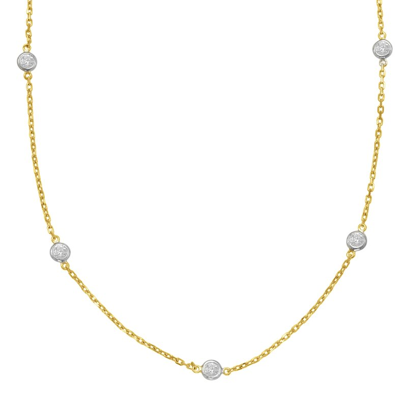 S. Kashi  & Sons Yellow Gold Diamond By The Yard Necklace