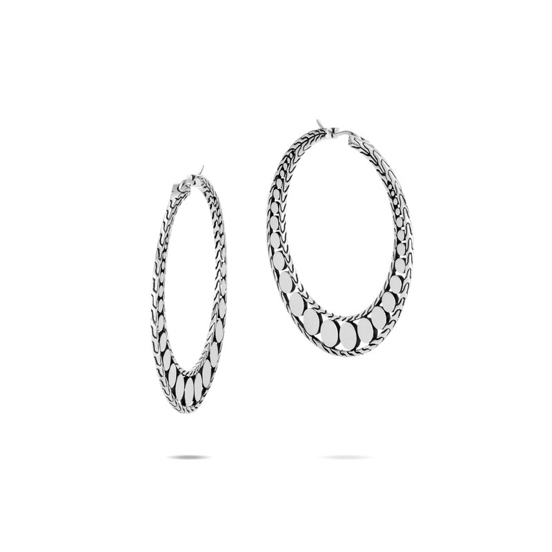 John Hardy  Dot Small Hoop Earring in Silver. Available at our Halifax location.