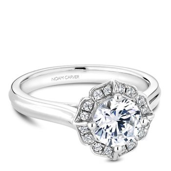Noam Carver Floral Engagement Ring R030-01A