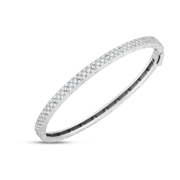 18K GOLD & DIAMOND SYMPHONY POIS MOIS OVAL BANGLE