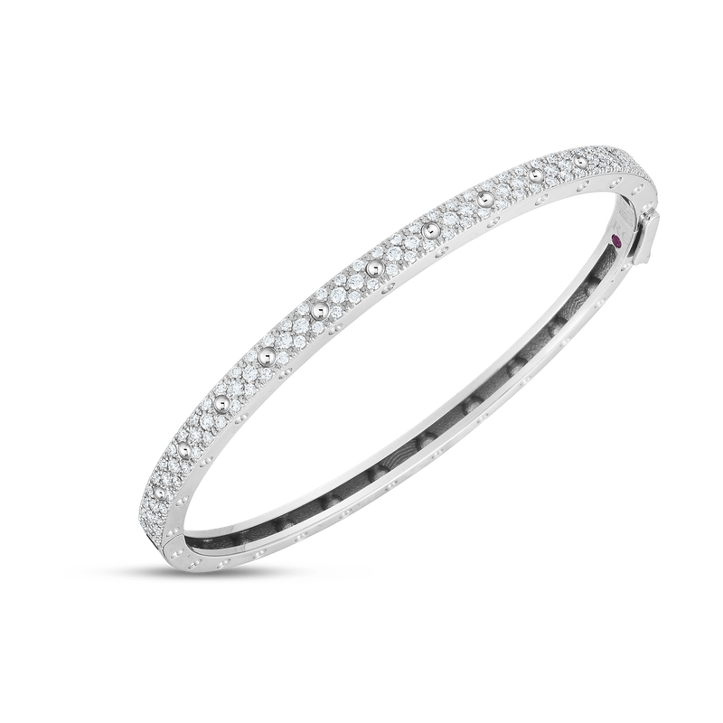 Roberto Coin 18K GOLD & DIAMOND SYMPHONY POIS MOIS OVAL BANGLE