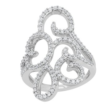 14KW 3/4CTW RIGHT HAND FASHION RING