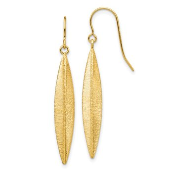 14k Brushed Dangle Earrings
