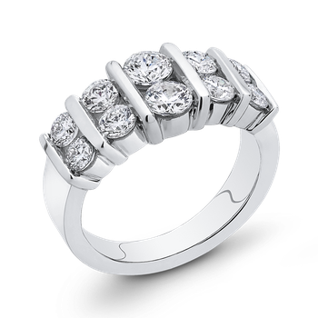 14K White Gold 2 Ct Diamond Fashion Ring