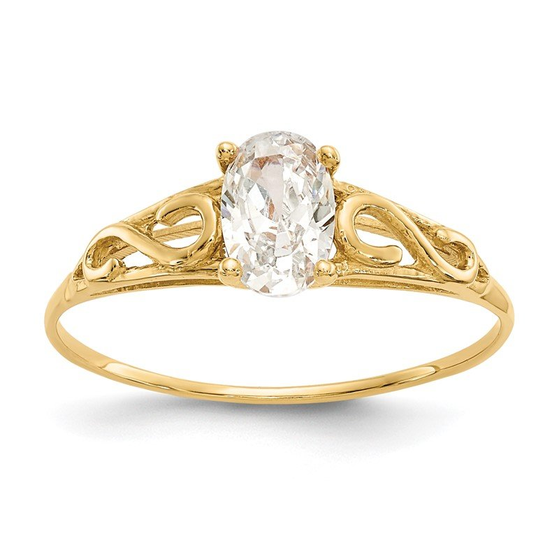 Quality Gold 14k Madi K Synthetic White Spinel Ring
