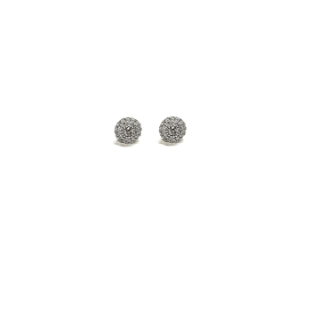 18KT GOLD DIAMOND DISC EARRINGS