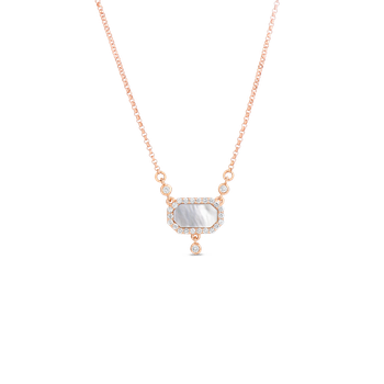 Art Deco Pendant With Diamonds And Mother Of Pearl
