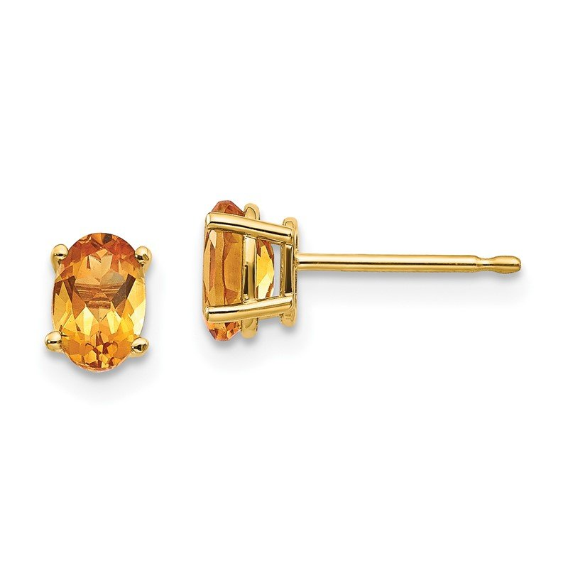 Quality Gold 14k Citrine Earrings - November