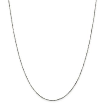 Sterling Silver 1.25mm Twisted Box Chain
