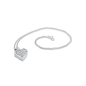 Platinum Diamond Invisible Set Necklace