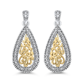 0.08 Ct Diamond Fashion Earrings
