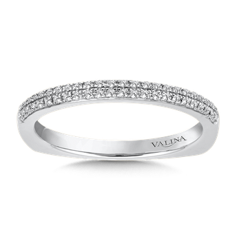 Stackable Wedding Band in 14K White Gold (.12 ct. tw.)