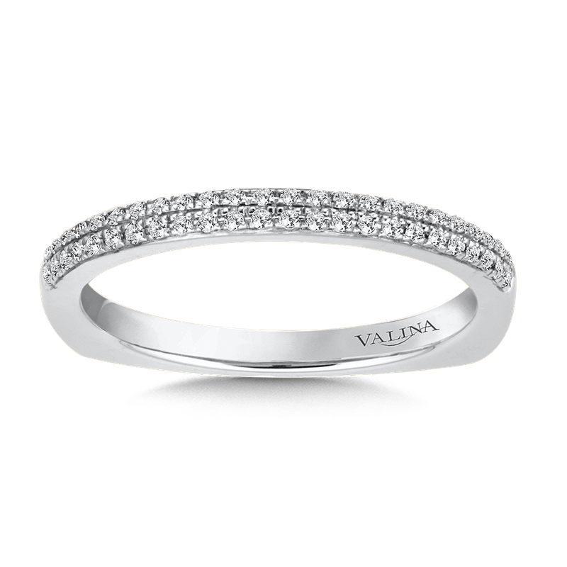 Valina Stackable Wedding Band in 14K White Gold (.12 ct. tw.)