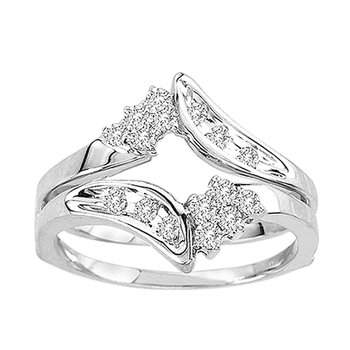 14K 0.33Ct Diamond Ring Guard