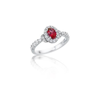 Pure Perfection Dainty Ruby and Diamond Ring