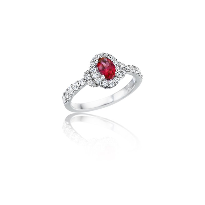 Fana Pure Perfection Dainty Ruby and Diamond Ring