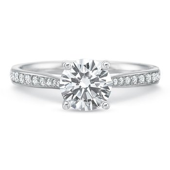 18K White Gold semi Mount for 0.75-1.50ct