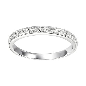 10K Diamond Mixable Ring 1/8 ctw