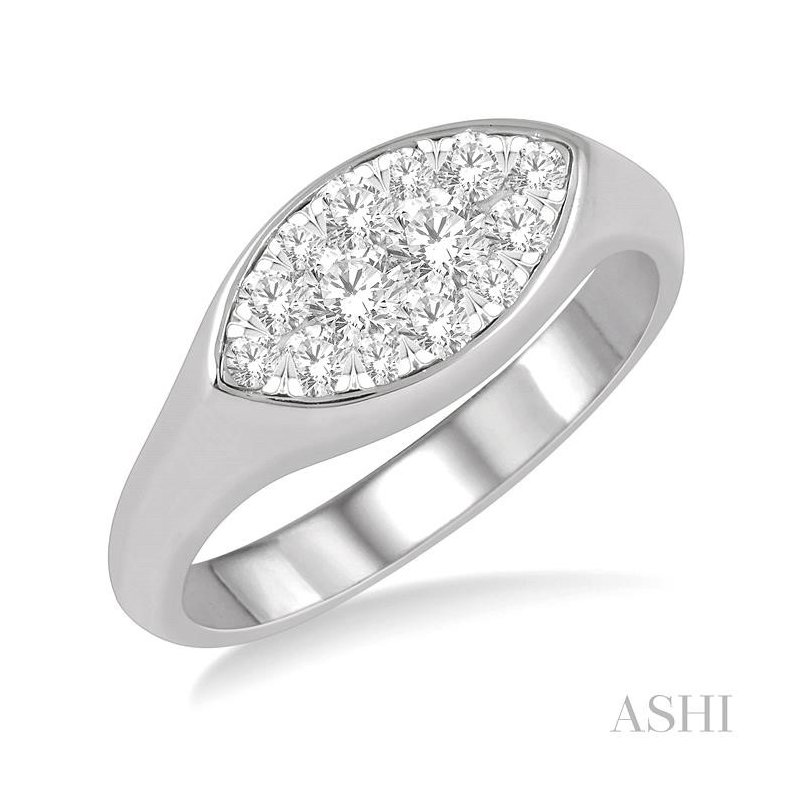 ASHI marquise shape lovebright essential diamond ring
