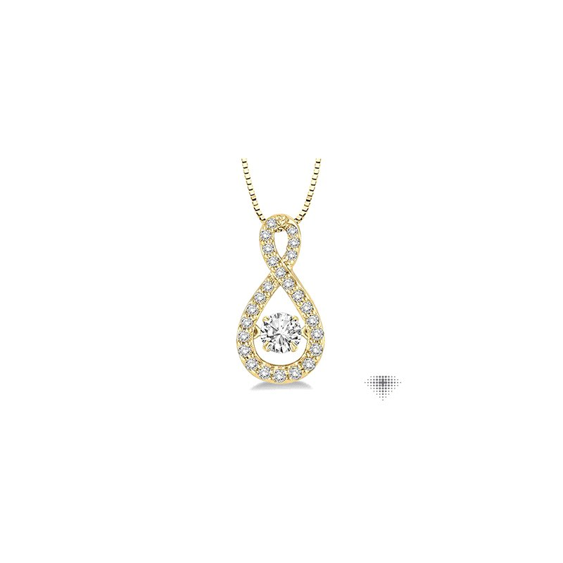 Emotion Diamonds Pear Shape Emotion Diamond Pendant