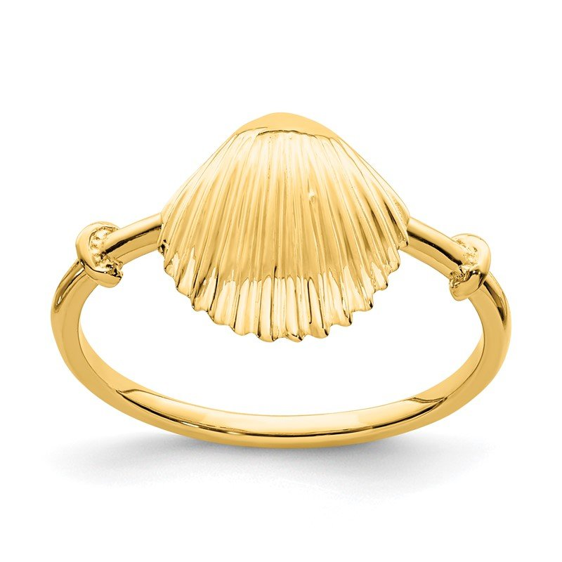 Quality Gold 14K Polished Shell Ring