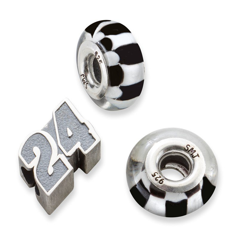 Nascar Sterling Silver 24 Jeff Gordon NASCAR Bead
