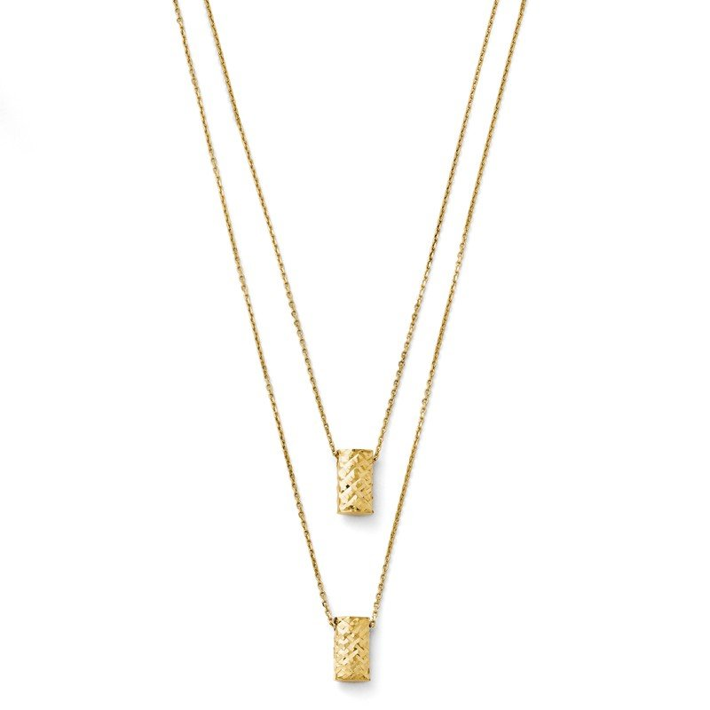 Leslie's Leslie's 14K Two Layer D/C Necklace