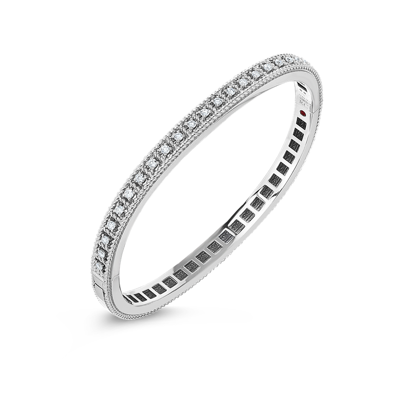 Roberto Coin  #27677 Of 18Kt Gold Bangle With Diamonds