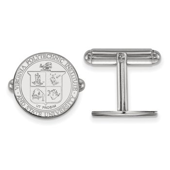 Sterling Silver Virginia Tech NCAA Cuff Links