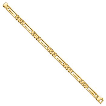 Leslie's 14K Polished and Brushed Men's Bracelet