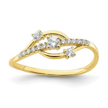 10K CZ Fancy Ring