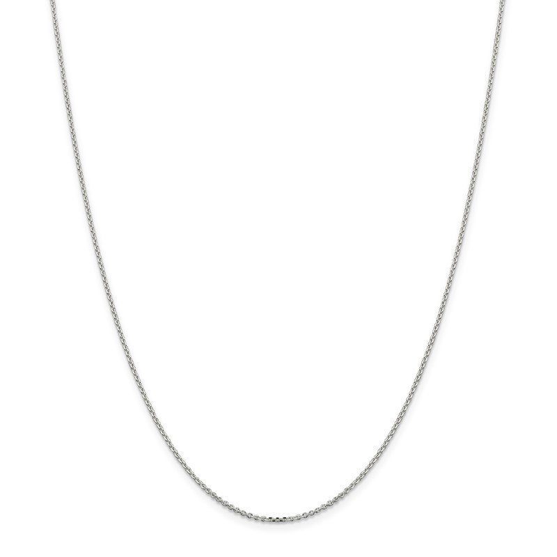 Sterling Silver 1.4mm Diamond-cut Forzantina Cable Chain